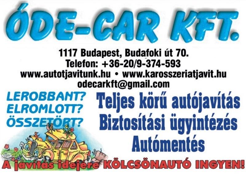 Autójavítás, kárrendezéssel, csereautóval Budapesten